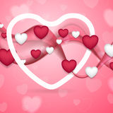 Pink and white Valentines Day abstract background vector illustration