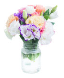 Pink, white and violet flowers Stock Images