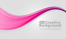 Pink and White wavy background stock illustration