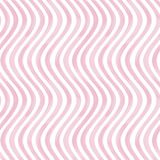 Pink and white wavy striped background. Seamless pattern. Pink and white grunge wavy striped abstract geometric background. Watercolor hand drawn seamless Royalty Free Stock Photo