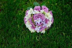 Pink and white wedding bouquet Royalty Free Stock Photo