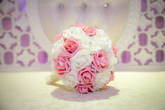 Pink and White wedding bouquet. A brides pink and white wedding bouquet Royalty Free Stock Photo