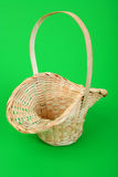 Pink wicker basket Royalty Free Stock Photography