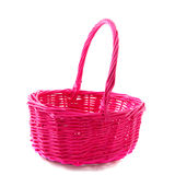 Pink wicker basket Royalty Free Stock Photo