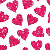 Pink wicker hearts seamless vector print Stock Photography