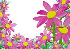 Pink Wild Flowers Around Grasses_Raster Royalty Free Stock Photo