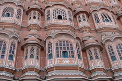 The pink wind palace in Jaipur, Rajasthan, India royalty free stock photos