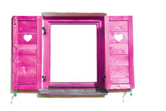 Pink window. Royalty Free Stock Image