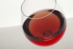 Pink wine glass Stock Images