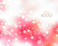 Pink winter background. Royalty Free Stock Photography