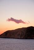 Pink winter cloud Stock Photos