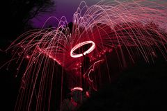 Pink wire wool royalty free stock image