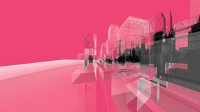 Pink Wireframe Architecture Creativity Concepts Royalty Free Stock Images