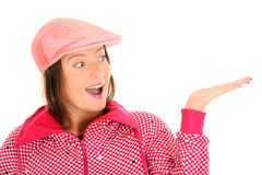 Pink woman Stock Photography