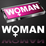 Pink Woman Button Stock Photos