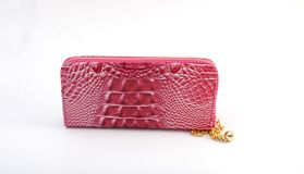 Pink woman purse Royalty Free Stock Images