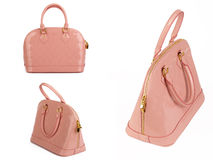 Pink woman's handbag Royalty Free Stock Photography
