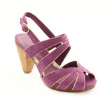 Pink woman shoe Stock Images