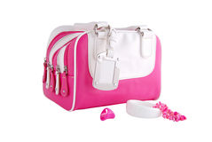 Pink woman style bag Stock Images