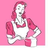 Pink Woman Vintage Artwork. Royalty Free Stock Photos