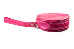 Pink women bag. Isolated on white background Stock Photo