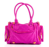 Pink women bag isolated Royalty Free Stock Photo