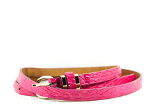Pink women belt's. For fashion and working woman Royalty Free Stock Image