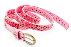Pink women belts Royalty Free Stock Photos