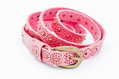 Pink women belts Stock Photos