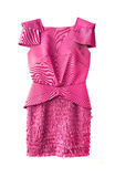 Pink women dress Stock Photo