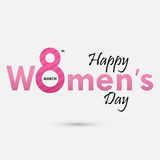 Pink `Women` Typographical Design Elements. International women`s day icon.Women`s day symbol.Minimalistic design for international women`s day concept.Vector Royalty Free Illustration
