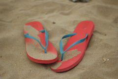 Pink womens flip flops Royalty Free Stock Photography