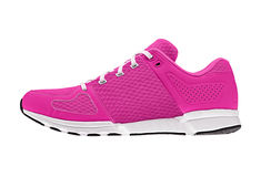 Pink womens sport shoes royalty free stock photo