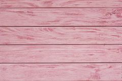 Pink wood plank texture and background. stock images