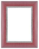 Pink wooden frame Stock Photos