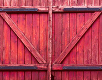 Pink wooden gate Stock Photography