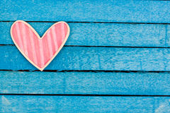 Pink wooden heart Royalty Free Stock Photography