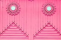 Pink wooden vertical plank Stock Image