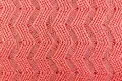 Pink wool knitted texture closeup. Natural wool fabric background Royalty Free Stock Images