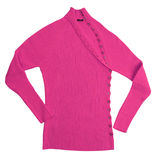 Pink wool sweater jacket Royalty Free Stock Images