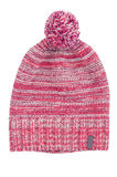 Pink woolen cap with a pompon. Isolated. Royalty Free Stock Photo