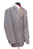 Pink woolen jacket with shirt and tie isolated Stock Images