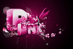 Pink word illustration Stock Images