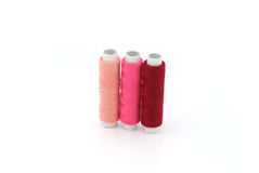 Pink yarn. Isolated on white background royalty free stock images