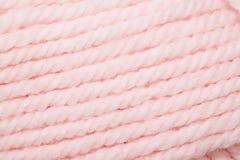 Pink Yarn Close Up Stock Photo