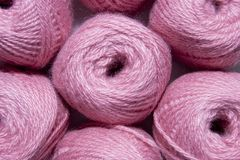 Pink yarn for knitting Royalty Free Stock Photography