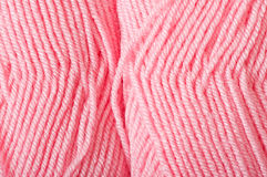 Pink yarn for knitting Stock Photos
