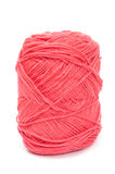 Pink yarn wool for knitting Royalty Free Stock Photos