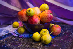 Pink and yellow apples_1 Stock Image