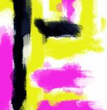 Pink yellow and black painting abstract Royalty Free Stock Images